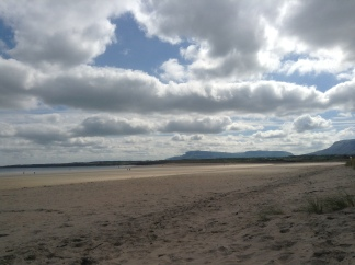 Beach view of Benbulben