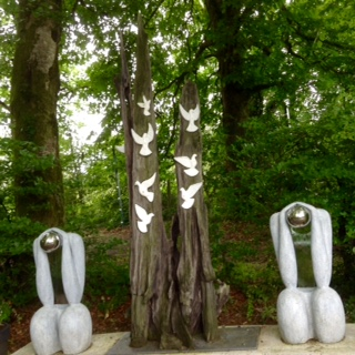 Peace sculpture at Cavan County Museum