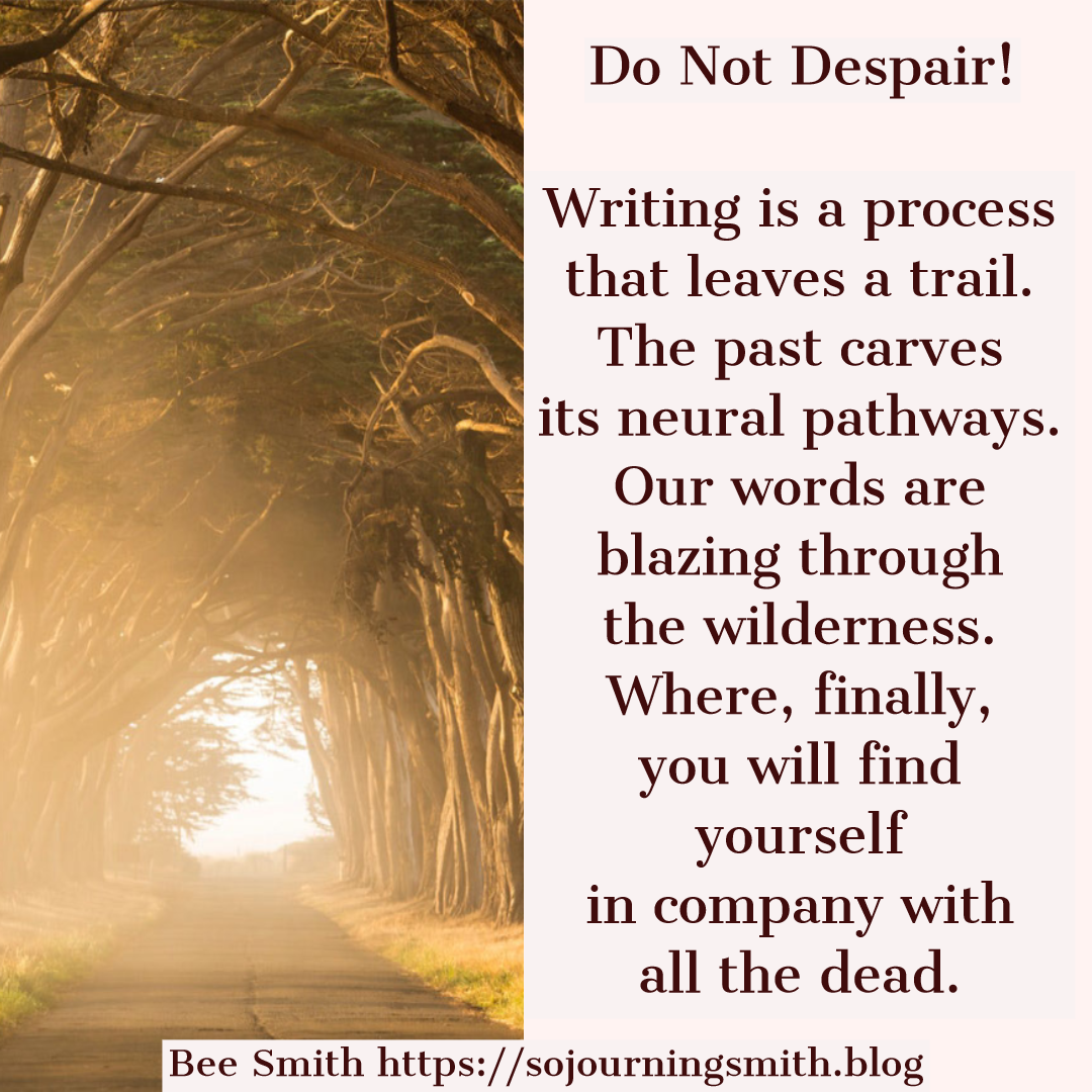 despair, writing, trail