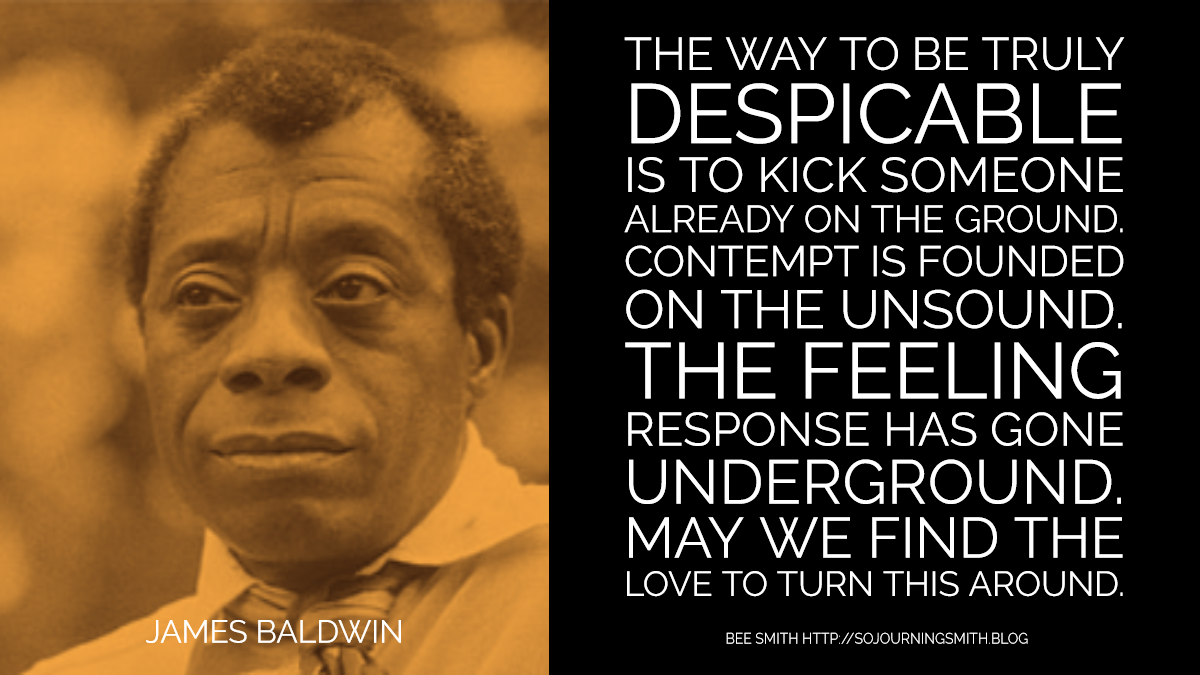 James Baldwin quotation poem