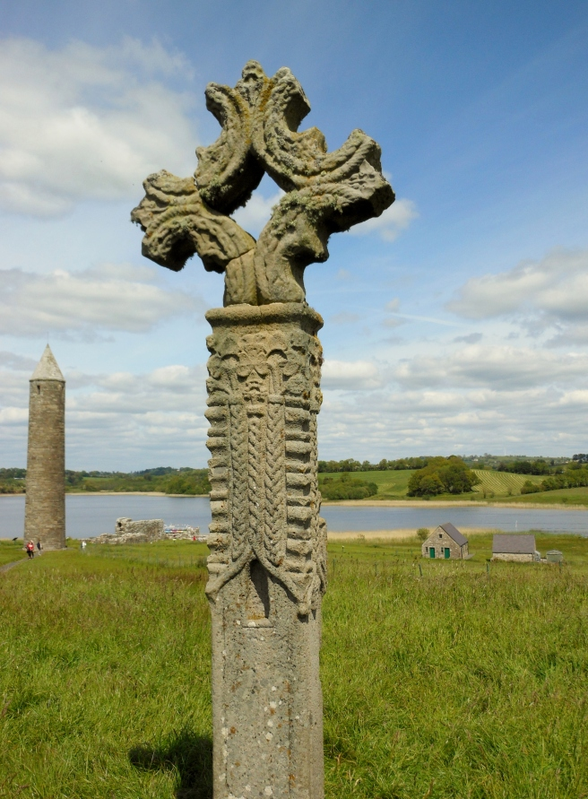 Devenish Island high cross roundtower